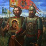 Минин и Пожарский со списком иконы Казанской Божией Матери
