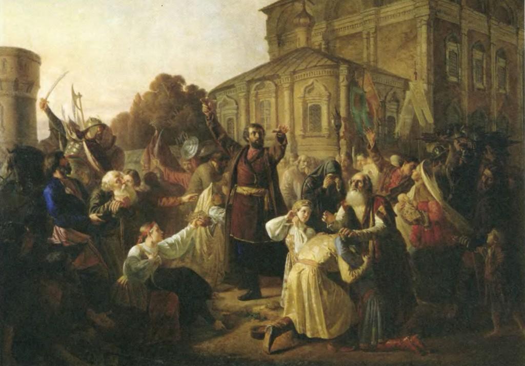 М. Песков. Воззвание Минина к нижегородцам в 1611 г.