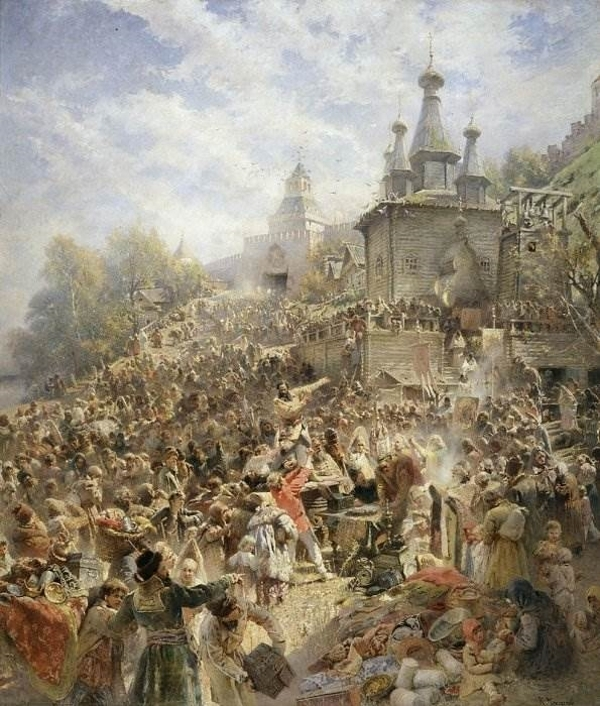 Воззвание Минина к нижегородам в 1611 году К. Маковский